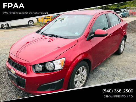 2012 Chevrolet Sonic for sale at FPAA in Fredericksburg VA