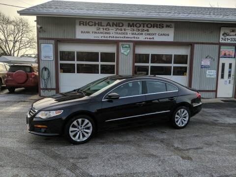2010 Volkswagen CC for sale at Richland Motors in Cleveland OH