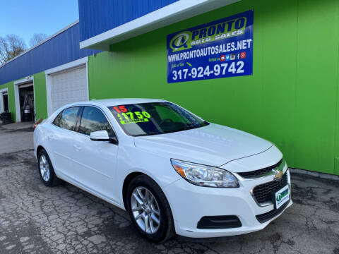 2015 Chevrolet Malibu for sale at PRONTO AUTO SALES INC in Indianapolis IN