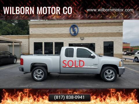 2013 Chevrolet Silverado 1500 for sale at Wilborn Motor Co in Fort Worth TX