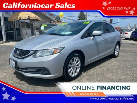 2015 Honda Civic for sale at Californiacar Sales in Santa Maria CA