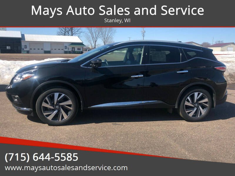 2018 Nissan Murano for sale at Mays Auto Sales and Service in Stanley WI