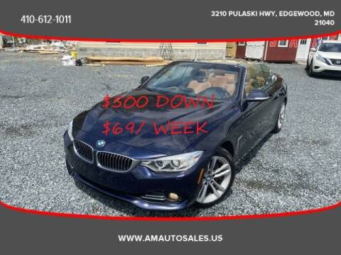 2015 BMW 4 Series for sale at A&M Auto Sales in Edgewood MD