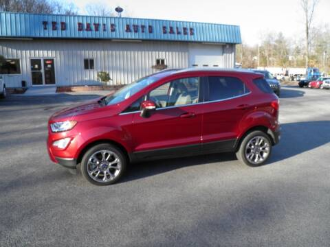 2019 Ford EcoSport for sale at Ted Davis Auto Sales in Riverton WV