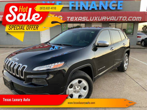 2014 Jeep Cherokee for sale at Texas Luxury Auto in Cedar Hill TX