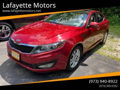 2013 Kia Optima for sale at Lafayette Motors in Lafayette NJ