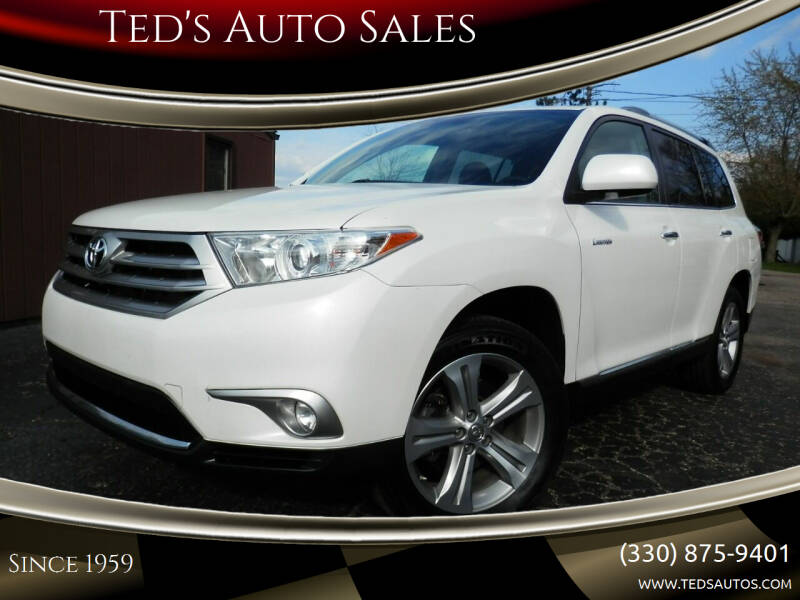 2013 Toyota Highlander for sale at Ted's Auto Sales in Louisville OH