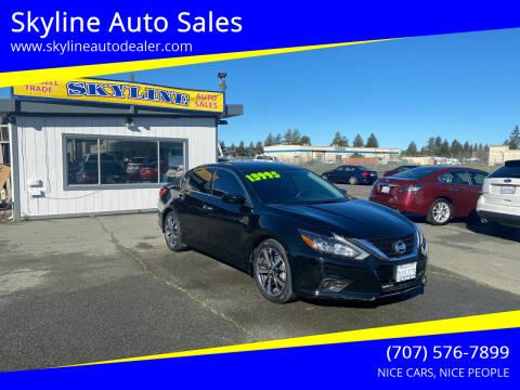 2016 Nissan Altima for sale at Skyline Auto Sales in Santa Rosa CA