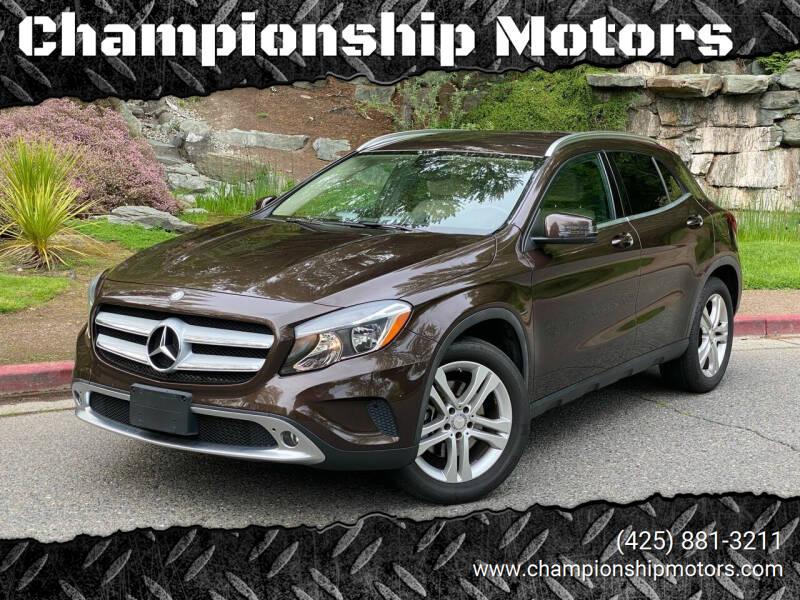 2015 Mercedes-Benz GLA for sale at Championship Motors in Redmond WA