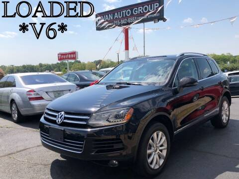 2012 Volkswagen Touareg for sale at Divan Auto Group in Feasterville Trevose PA