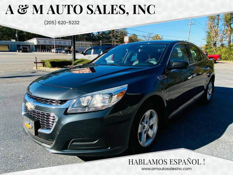 2015 Chevrolet Malibu for sale at A & M Auto Sales, Inc in Alabaster AL