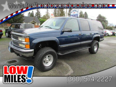 1999 Chevrolet Suburban for sale at Hall Motors LLC in Vancouver WA
