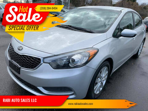 2014 Kia Forte for sale at RABI AUTO SALES LLC in Garden City ID