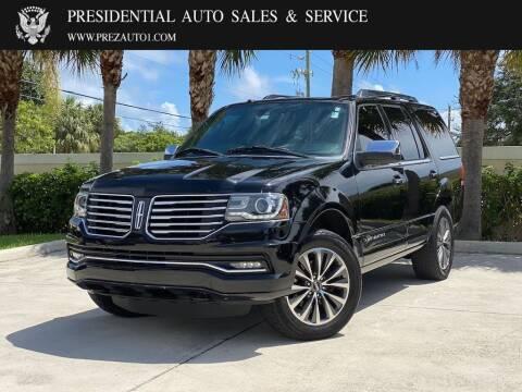 2016 Lincoln Navigator for sale at Presidential Auto  Sales & Service in Delray Beach FL