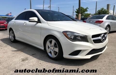 2015 Mercedes-Benz CLA for sale at AUTO CLUB OF MIAMI, INC in Miami FL
