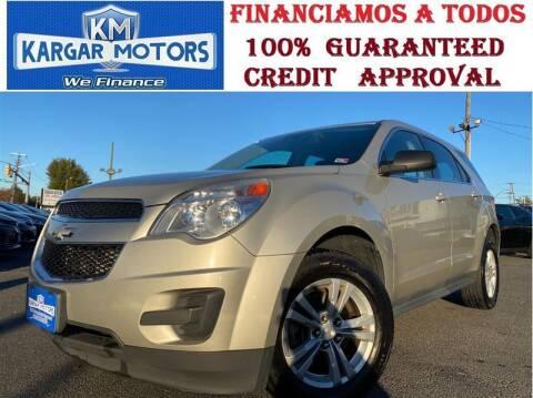 2013 Chevrolet Equinox for sale at Kargar Motors of Manassas in Manassas VA
