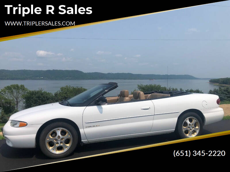 2000 Chrysler Sebring for sale at Triple R Sales in Lake City MN