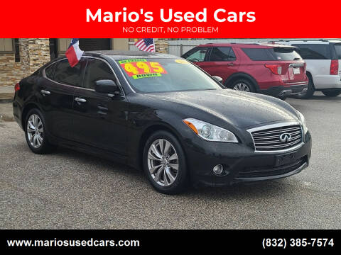 2012 Infiniti M37 for sale at Mario's Used Cars - Pasadena Location in Pasadena TX