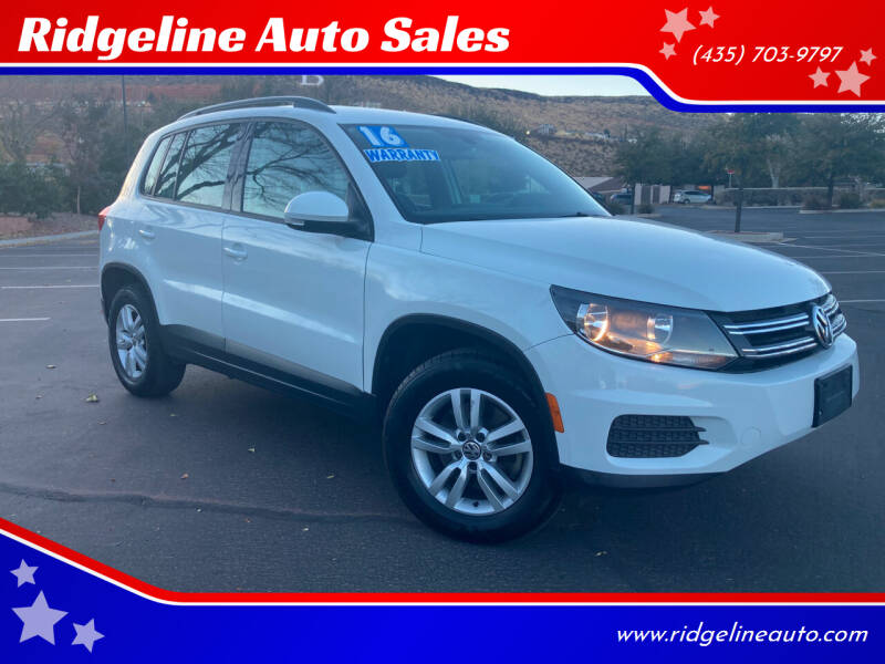 2016 Volkswagen Tiguan for sale at Ridgeline Auto Sales in Saint George UT