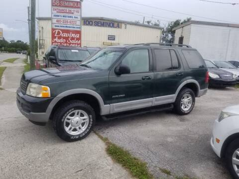 2002 Ford Explorer for sale at DAVINA AUTO SALES in Orlando FL