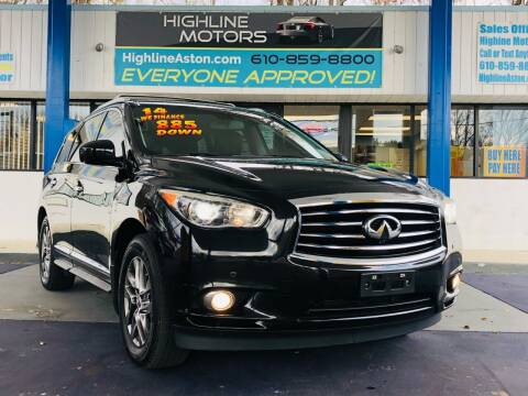 2014 Infiniti QX60 for sale at Highline Motors in Aston PA