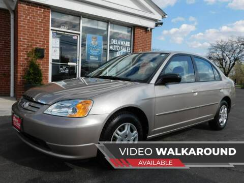 2002 Honda Civic for sale at Delaware Auto Sales in Delaware OH