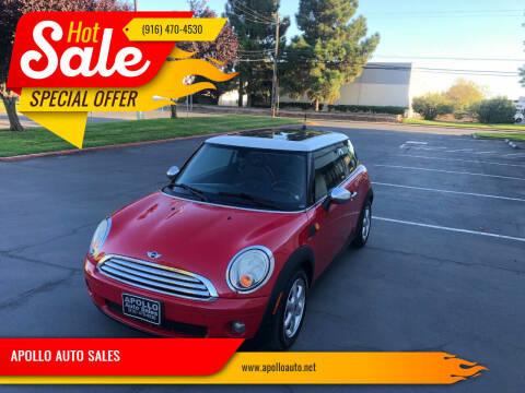 2009 MINI Cooper for sale at APOLLO AUTO SALES in Sacramento CA