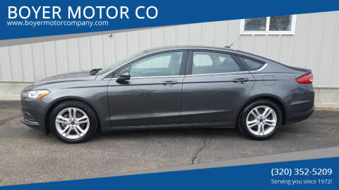 2018 Ford Fusion for sale at BOYER MOTOR CO in Sauk Centre MN