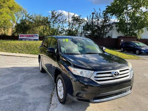 2012 Toyota Highlander for sale at Detroit Cars and Trucks in Orlando FL