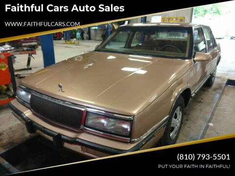 1990 Buick LeSabre for sale at Faithful Cars Auto Sales in North Branch MI