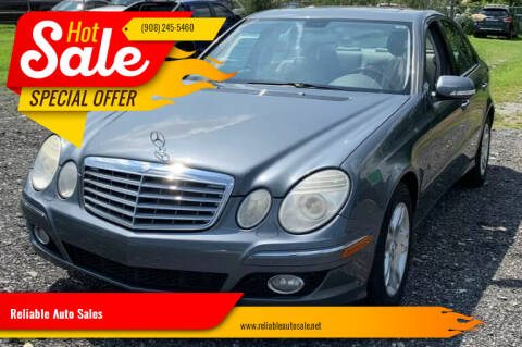 2007 Mercedes-Benz E-Class for sale at Reliable Auto Sales in Roselle NJ