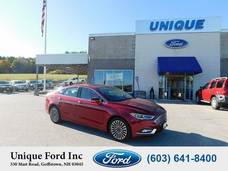2017 Ford Fusion for sale at Unique Motors of Chicopee - Unique Ford in Goffstown NH
