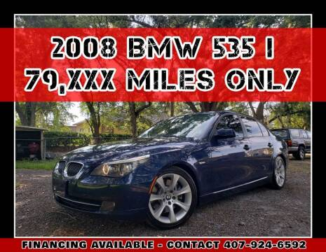 2008 BMW 5 Series for sale at AFFORDABLE ONE LLC in Orlando FL
