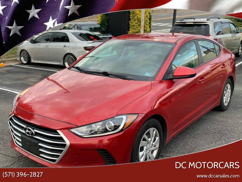 2017 Hyundai Elantra for sale at DC Motorcars in Springfield VA