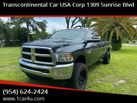 2016 RAM Ram Pickup 2500 for sale at Transcontinental Car in Fort Lauderdale FL