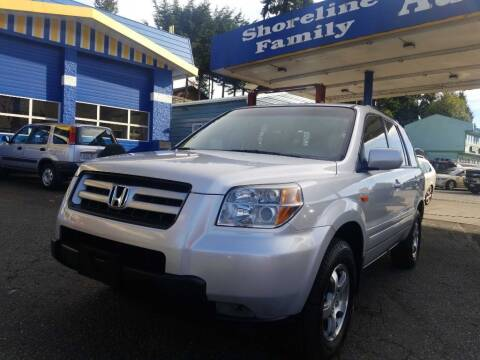 2008 Honda Pilot for sale at Shoreline Family Auto Care And Sales in Shoreline WA