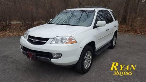 2003 Acura MDX for sale at Ryan Motors LLC in Warsaw IN