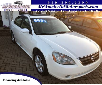 2002 Nissan Altima for sale at Mr Wonderful Motorsports in Aurora IL