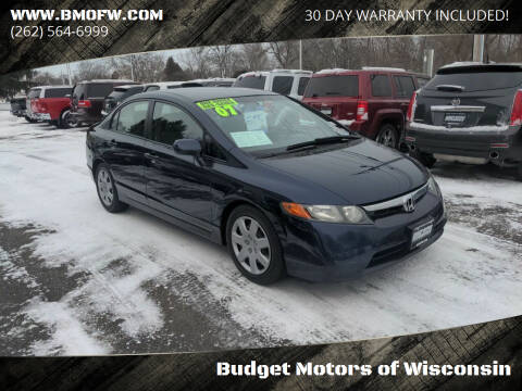 2007 Honda Civic for sale at Budget Motors of Wisconsin in Racine WI