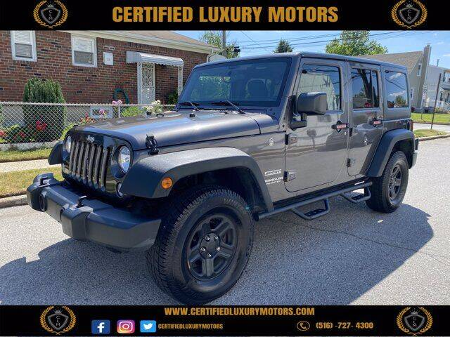2016 Jeep Wrangler Unlimited for sale at CERTIFIED LUXURY MOTORS OF QUEENS in Elmhurst NY