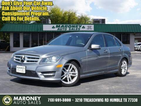 2013 Mercedes-Benz C-Class for sale at Maroney Auto Sales in Humble TX