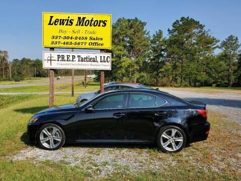 2012 Lexus IS 350 for sale at Lewis Motors LLC in Deridder LA