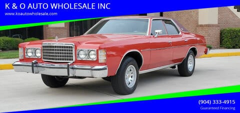 1975 Ford LTD for sale at K & O AUTO WHOLESALE INC in Jacksonville FL