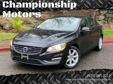 2016 Volvo S60 for sale at Mudarri Motorsports in Kirkland WA