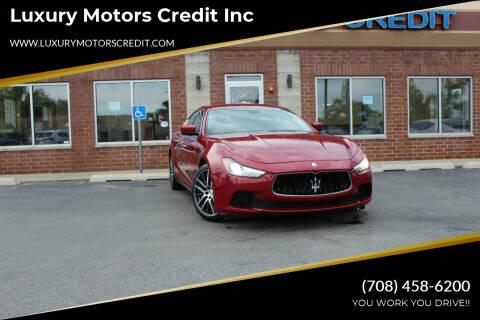 2016 Maserati Ghibli for sale at Luxury Motors Credit Inc in Bridgeview IL