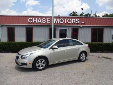 2015 Chevrolet Cruze for sale at Chase Motors Inc in Stafford TX