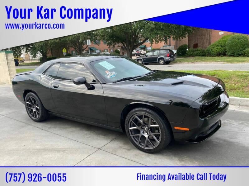 2018 Dodge Challenger for sale at Your Kar Company in Norfolk VA