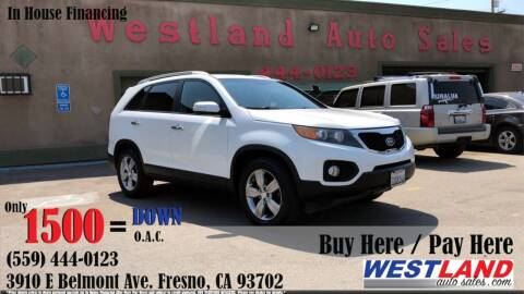 2013 Kia Sorento for sale at Westland Auto Sales in Fresno CA