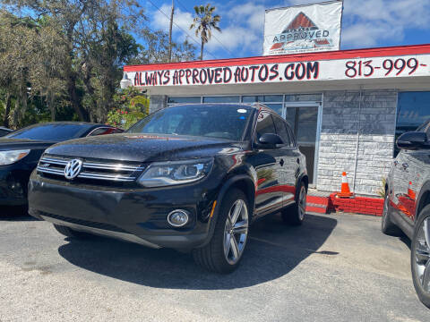 2014 Volkswagen Tiguan for sale at Always Approved Autos in Tampa FL