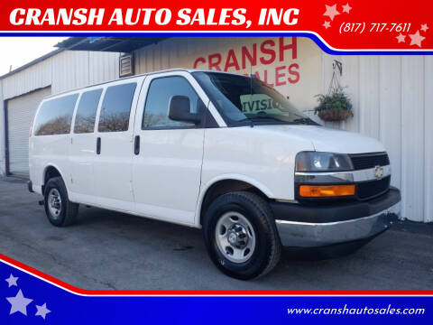 2017 Chevrolet Express Passenger for sale at CRANSH AUTO SALES, INC in Arlington TX